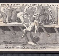 Uncle Toms Cabin 1800's Rescue Eva Smiths Boston Theater Advertising Trade Card
