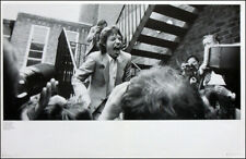 THE ROLLING STONES POSTER PAGE . 1982 MICK JAGGER BEAT ROUTE CLUB SOHO . 1Q10