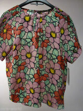 Floral Short Sleeve Plus Size Basic T-Shirts for Women