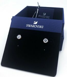 Authentic SWAROVSKI Solitaire White Rose Gold  Pierced Stud Earrings 5112156