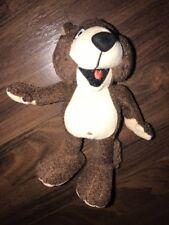 VW Hund Wolf Plush Braun Stofftier Plüschtier Braun Beige Rot Zunge Kuscheltier