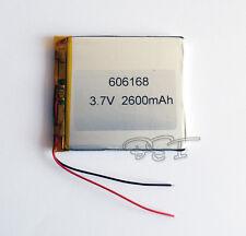 3.7V  2600 mAh 606168 Rechargeable Polymer Battery  Li-Po ion for GPS PSP MP5