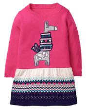 Gymboree Ice Dancer Fair Isle Giraffe Sweater Dress Toddler Girl Size 2T NEW