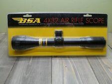 BSA OPTICS 4X32 AIR RIFLE SCOPE AR4X32CP NEW IN PACKAGE MATTE BLACK