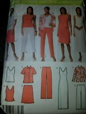 Simplicity Pattern 4992 Easy Wardrobe Elements Shirt Dress Skirt Pants Sz 20-28