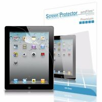 iPad 4, 3, 2 amFilm Premium HD Clear (Invisible) Screen Protector (2 Pack)