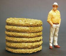 23984 American Diorama Rundballen Heuballen Strohballen Silage 1 24