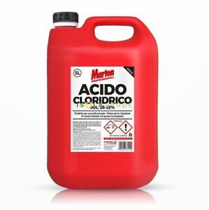 ACIDO CLORIDRICO PURO 28-32% LT.5 MARTEN PROFESSIONALE CALCARE CROSTE E VARIE