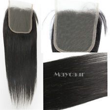 Free Part Human Straight Lace Closure Brazilian Unprocessed  Hair 4x4 Closure