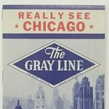 1952 Chicago Gray Line Visitors Map & Sight Seeing Guide