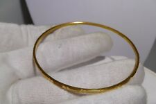 21K Yellow Gold Cuff Bangle Bracelet Hand Made From Egypt Exquisite