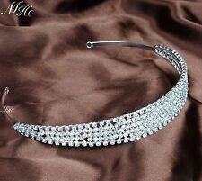 Women Wedding Bridal Headbands Rhinestone Crystal Tiaras Prom Party Hair Jewelry