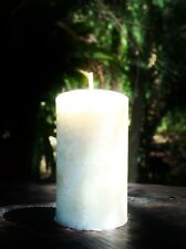SANDALWOOD & VANILLA Elegant White Ivory Candle 200 hrs All Colours Available