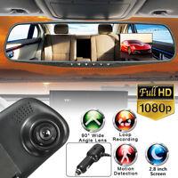 2.8'' HD 1080P Car Camera DVR Rearview Mirror Motion Detection Dash Cam US