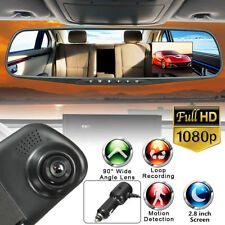 2.8'' HD 1080P Car DVR Motion Detection Rearview Mirror Dash Cam Recorder US