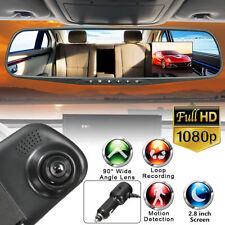 2.8'' HD 1080P Car Camera DVR Rearview Mirror Motion Detection Dash Cam Recorder