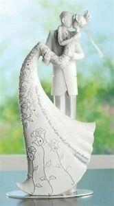 "Roman Language of Love ""The Kiss""  9"" Bride & Groom Cake Topper Wedding w Verse"