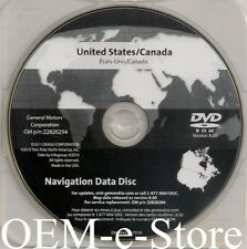 2008 to 2011 Cadillac STS STS-V Saab 9-5 Navigation DVD U.S CAN Map Version 8.00