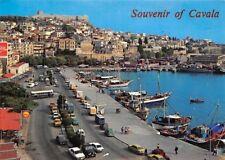 Greece Souvenir of Cavala, Cars Voitures Promenade Port Bateaux Harbour