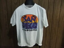 90s San Diego shirt neon colors white large California vintage