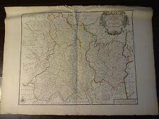 RARE Nicolas de Fer Antique Copper Engraved Map of Auvergne & Bourbonois, c.1712