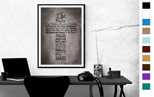 The Lords Prayer Picture Wall Art Poster Print Lords Prayer Picture 4 Sizes 231