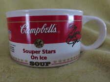 CAMPBELL Olympic Stars SOUP MUG Cocoa Cup Ice Skater Bobek Kwan Lipinski Vtg