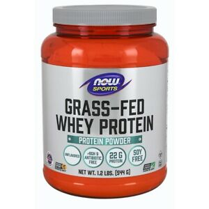 Now Foods Grass-Fed Whey Protein Conc. 1.2 Lb Clearance EXP 03/2021