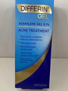 Differin Adapalene Gel 0.1% Retinoid Acne Pimple Treatment 1.6 oz 08/2023