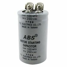 ABS 100MFD 100uF 250V AC Motor Starting Capacitor