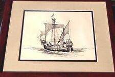 Gordon Grant Original Art (Signed Ink Drawing 1935) Columbus's Ship