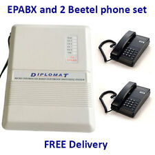 Diplomat EPABX 104 Intercom System and 2 Beetel Phone set
