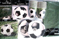 SOCCER Fanatic - Birthday Party Supply Pack DELUXE Kit w/ Loot Bags & Invites