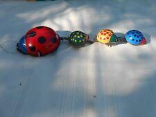 Lady Bug Parade Wind Up Tin Toy Vintage