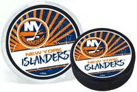 New York Islanders Reverse Retro 3D Textured Classic Puck (in Display Tube)