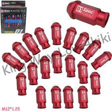 20 PCS 50MM RED RACING WHEEL/RIMS LUG NUTS M12X 1.25 FOR Nissan Subaru infiniti