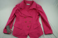 Vintage By Gadd Womens 10 Pink Cotton Floral Jacket NWT VTG D507