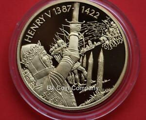 2003 East Caribbean States Henry V Gold Plated Piedfort $2 Dollar Coin