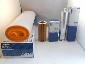 BMW 3 Series 330d 3.0 D Service Kit Oil Air Fuel Filter 2005 to 2009 MAHLE 231HP
