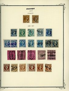 COLOMBIA Scott Specialty Album Page Lot #5 - SEE SCAN - $$$