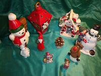 ~ Konvolut Teelichthaus Laterne Kerzen Schneemann Figuren Weihnachtsdeko Advent