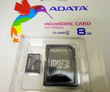 Adata Micro 8GB Carte SDHC avec Adaptateur SD AUSDH8GCL4-RA1 Mémoire Caméra Sony