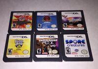 Nintendo DS Lot of 6 Games Spore Creatures Underground Pool Guitar Hero On Tour