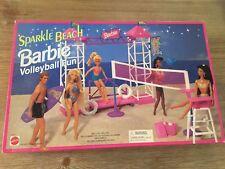 Sparkle Beach Barbie Volleyball Fun Playset 1995 Arcotoys Inc. Mattel New in Box