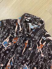 Vintage 1970s Basketball Player Print Shirt Lady Arrow 70s Xs/s