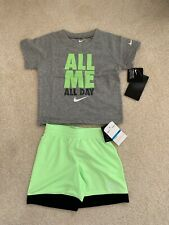 NWT Nike Baby Boys 2-Pc  All Me Graphic T-Shirt & Shorts Set $15
