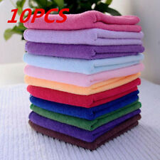 10Pcs Soothing Microfiber Face Towel Cleaning Wash Cloth Hand Square Towel New