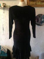 Ladies Vintage Velvet Dress By Mary Quant Size 10