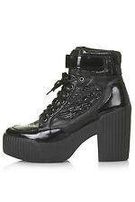 Topshop High (3-4.5 in.) Lace Up Shoes for Women