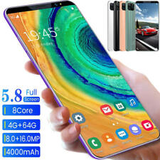 5.8 inch Smart Mobile Phone 4G+64GB Dual SIM Android 9.1 4000mAh 8core 2020 NEW